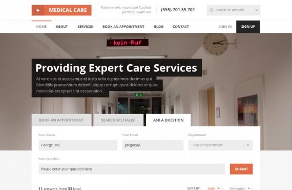 medical care – medical psd template screenshot 23