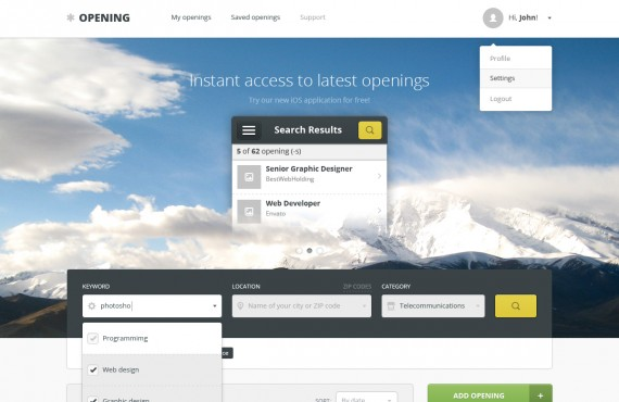 opening – job board wordpress theme screenshot 2
