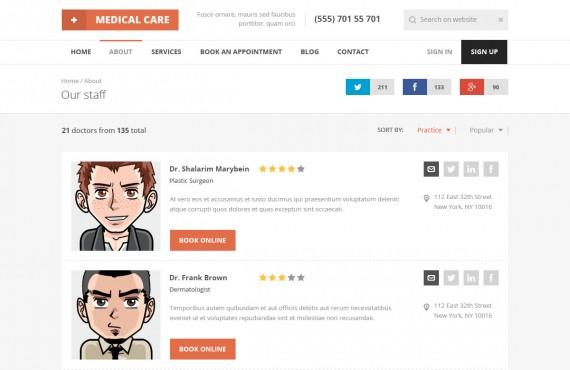 medical care – medical psd template screenshot 14