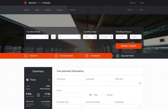 book your train – online booking psd template screenshot 15