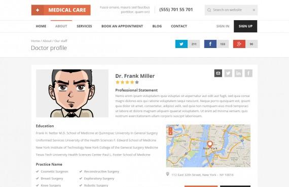 medical care – medical psd template screenshot 18