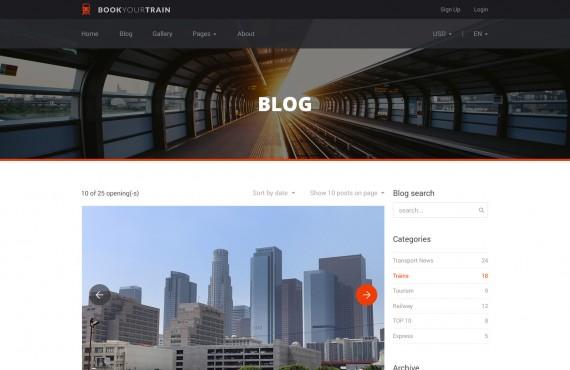 book your train – online booking psd template screenshot 1