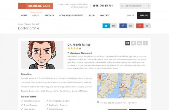 medical care – medical psd template screenshot 12