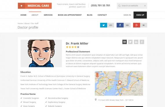 medical care – medical psd template screenshot 13