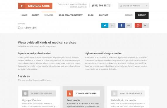 medical care – medical psd template screenshot 1