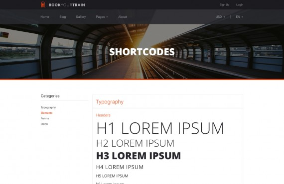 book your train – online booking psd template screenshot 6