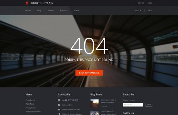 book your train – online booking psd template screenshot 5