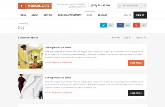 medical care – medical psd template screenshot 15