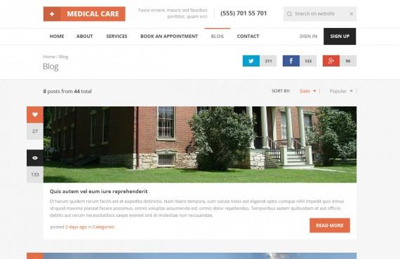 medical care – medical psd template screenshot 16