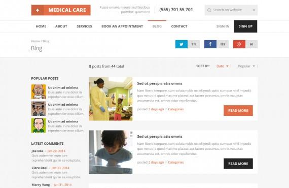 medical care – medical psd template screenshot 2