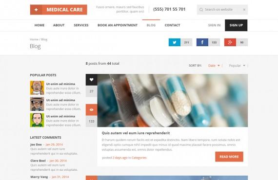 medical care – medical psd template screenshot 3
