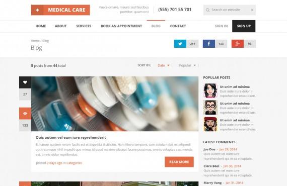 medical care – medical psd template screenshot 4