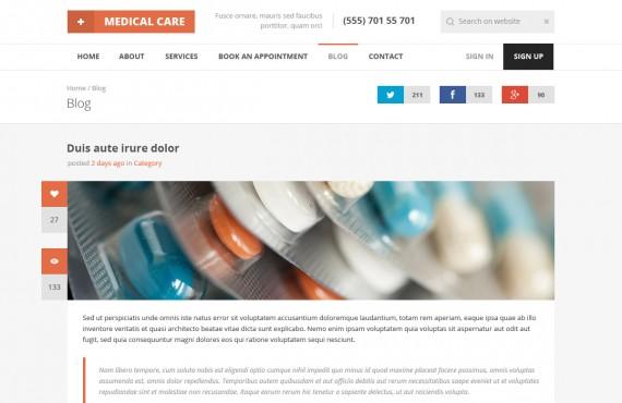 medical care – medical psd template screenshot 5