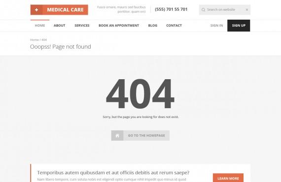 medical care – medical psd template screenshot 7