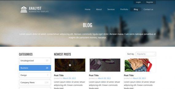 analyst – business & agency psd template screenshot 3