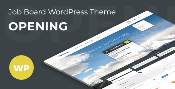 opening – job board wordpress theme screenshot 1