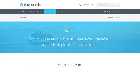 book your cruise – booking psd template screenshot 8
