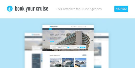 Book Your Cruise - Booking PSD Template