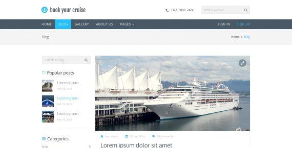 book your cruise – booking psd template screenshot 9