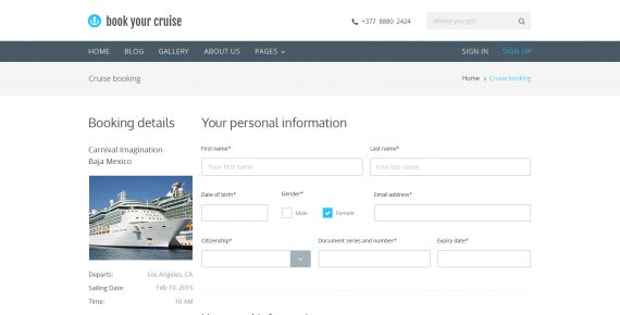 book your cruise – booking psd template screenshot 11