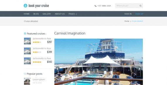book your cruise – booking psd template screenshot 12