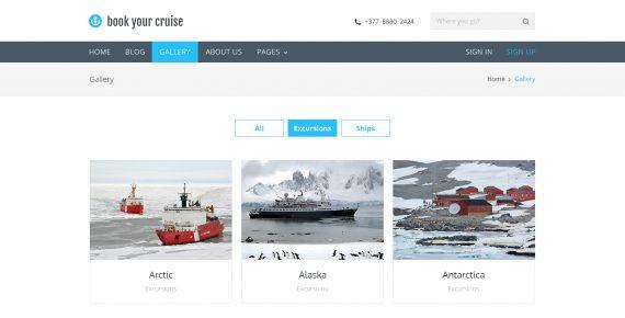 book your cruise – booking psd template screenshot 13