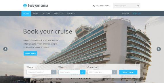 book your cruise – booking psd template screenshot 14