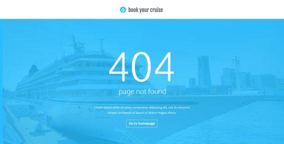 book your cruise – booking psd template screenshot 1