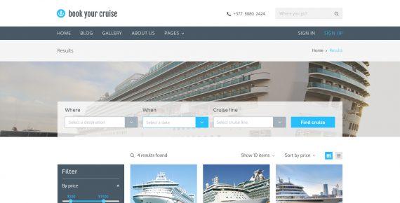 book your cruise – booking psd template screenshot 3