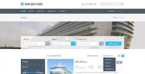 book your cruise – booking psd template screenshot 2