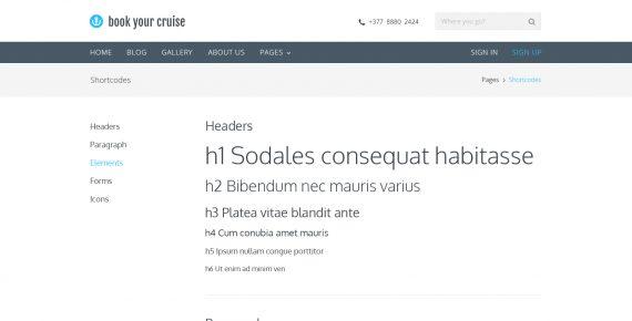 book your cruise – booking psd template screenshot 4