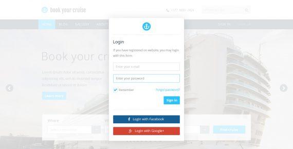 book your cruise – booking psd template screenshot 5