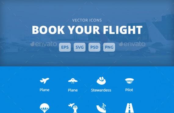 book your flight – vector icons screenshot 1