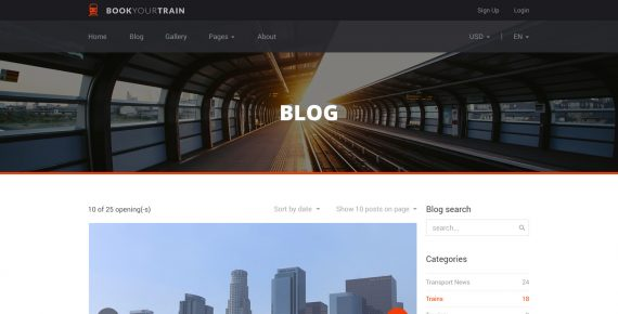 book your train – online booking psd template screenshot 4