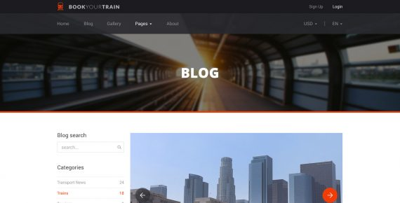 book your train – online booking psd template screenshot 5