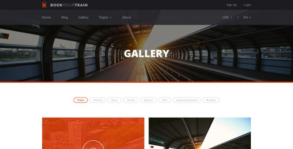 book your train – online booking psd template screenshot 6