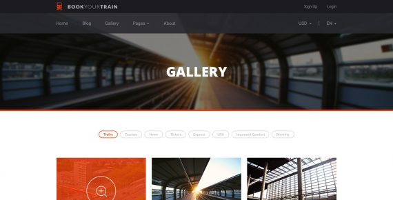book your train – online booking psd template screenshot 7