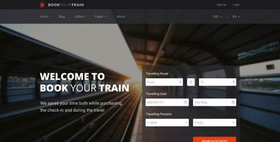 book your train – online booking psd template screenshot 9