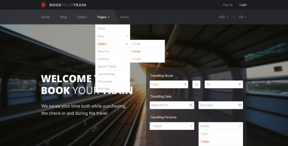 book your train – online booking psd template screenshot 10