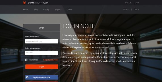 book your train – online booking psd template screenshot 12