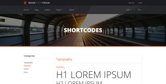 book your train – online booking psd template screenshot 17