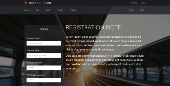 book your train – online booking psd template screenshot 18