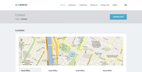 campus – university psd template screenshot 5