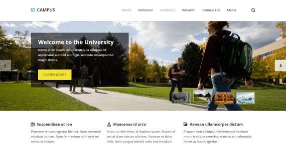 campus – university psd template screenshot 6