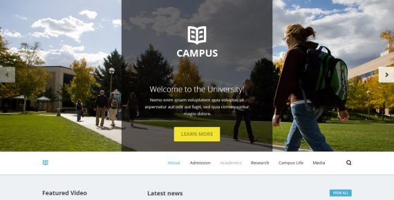 campus – university psd template screenshot 7