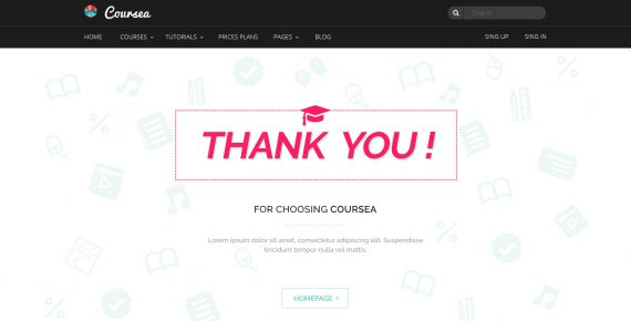 coursea – online tutorials & courses psd template screenshot 27