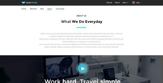 hotel finder – online booking psd template screenshot 2
