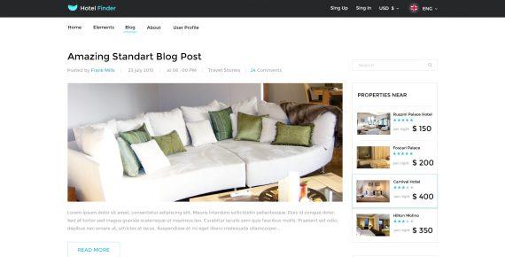 hotel finder – online booking psd template screenshot 3