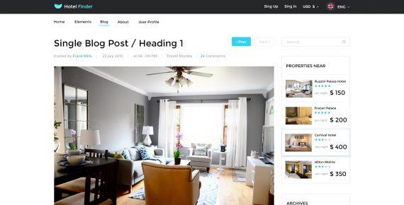 hotel finder – online booking psd template screenshot 4