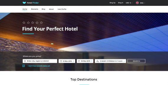 hotel finder – online booking psd template screenshot 7